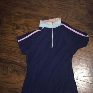 Cotton can mini body on dress fitted